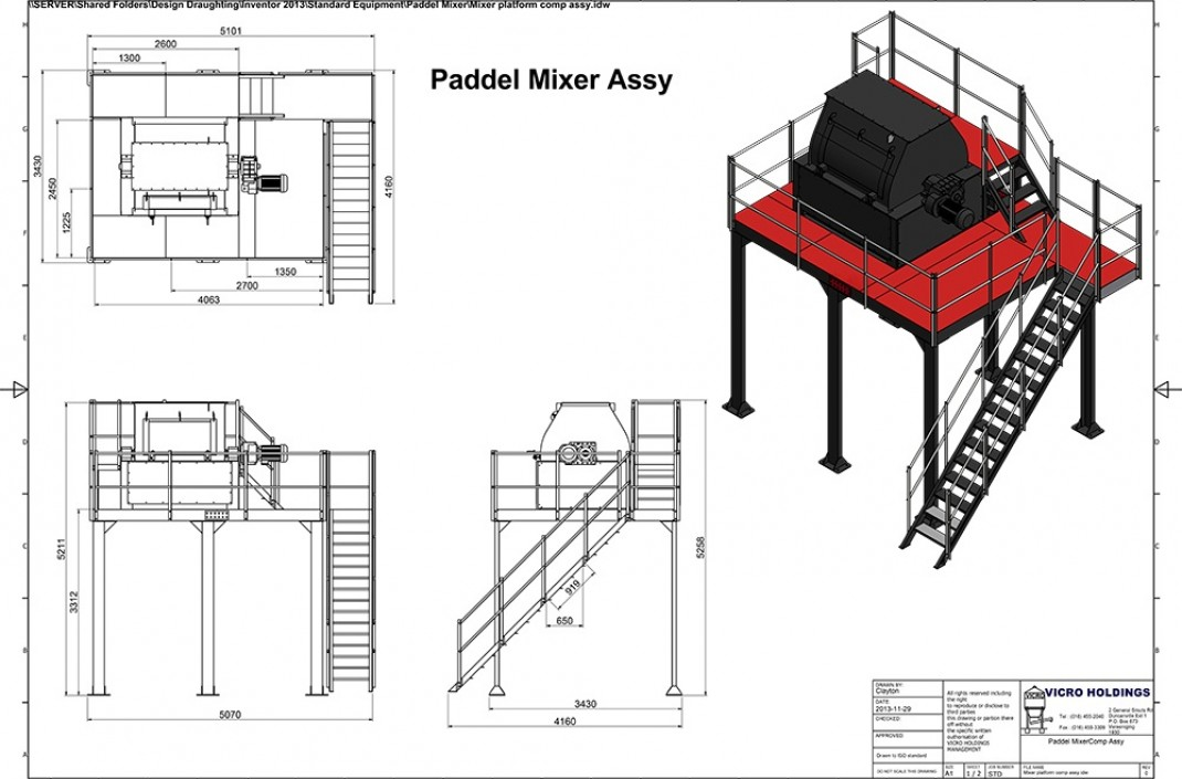 Vicro-Bulk-Paddle-mixer-with-structure-walkway-and-staircase