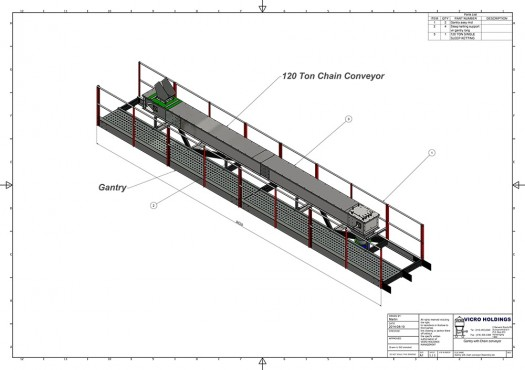 Vicro-Bulk-Gantry-with-chain-conveyor-Assembly